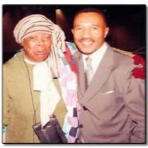 M.Waddy-Thibodeaux as Harriet Tubman joined by Former NAACP president, Kwesi Mfume.
